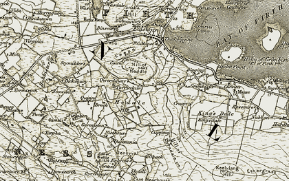 Old map of Appiehouse in 1911-1912