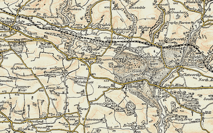 Old map of Leary Moors in 1900