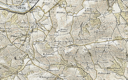Old map of West Riding in 1901-1904