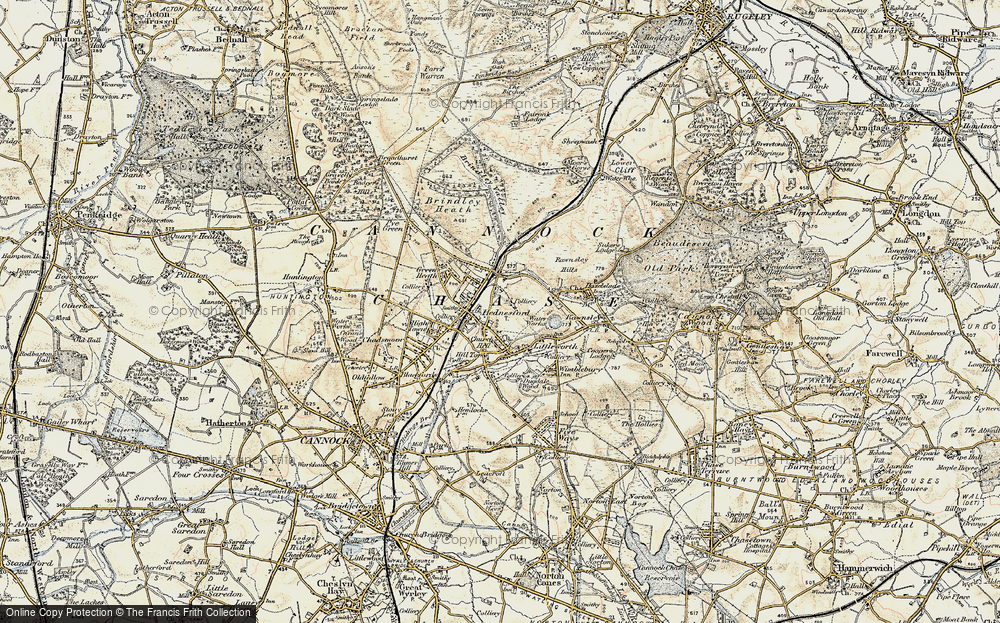 Old Map of Hednesford, 1902 in 1902