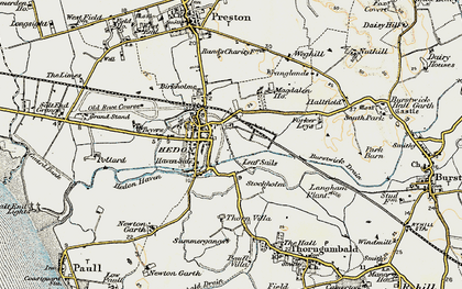 Old map of Wranglands in 1903-1908