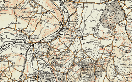Old map of Hedsor in 1897-1898