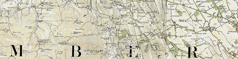 Old map of Thwaite Hall in 1901-1904