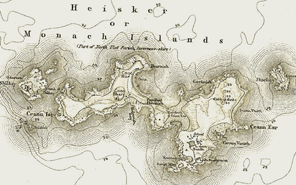 Old map of Bàgh Hacanais in 1911
