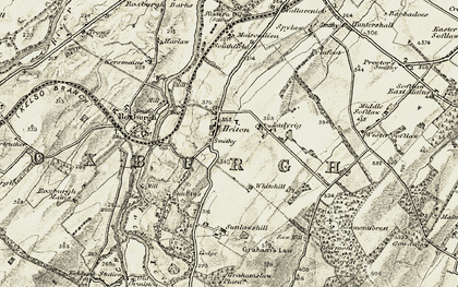 Old map of Whitehillfoot in 1901-1904