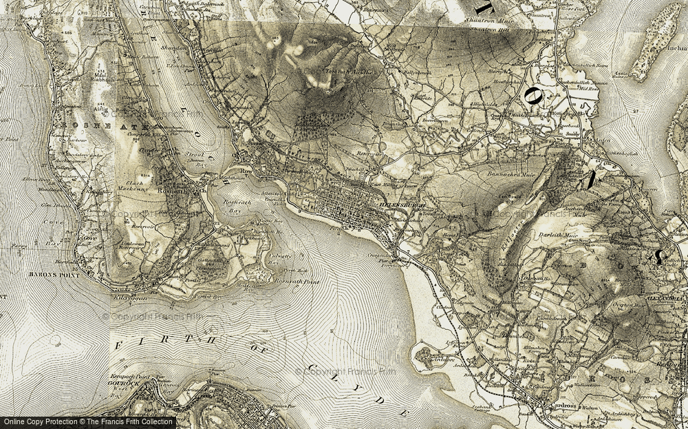 Old Map of Helensburgh, 1905-1907 in 1905-1907