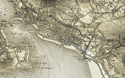 Old map of Helensburgh in 1905-1907