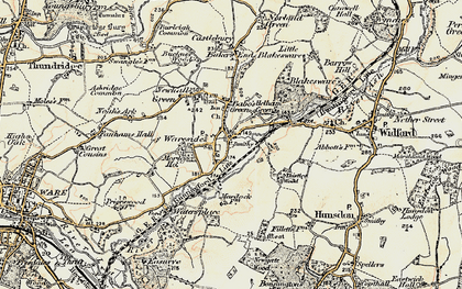 Old map of Helham Green in 1898-1899