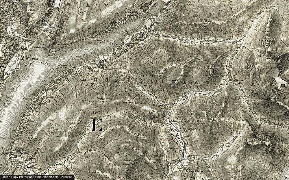Old Map of Historic Map covering Allt Glinne Mhòir in 1906-1907