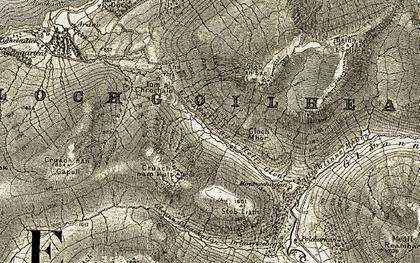Old map of Allt Glinne Mhòir in 1906-1907