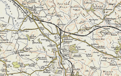 Old map of Hellifield in 1903-1904