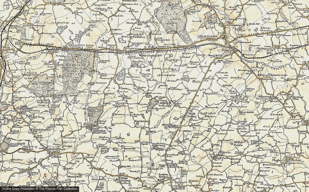 Old Map of Historic Map covering Woolard's Ash in 1898-1899