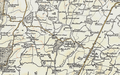 Old map of Woolard's Ash in 1898-1899