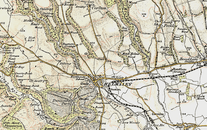 Old map of Helmsley in 1903-1904