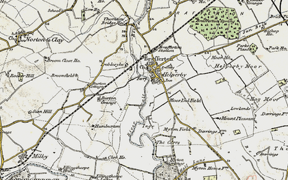 Old map of Helperby in 1903-1904