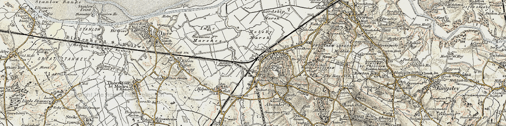 Old map of Helsby in 1902-1903