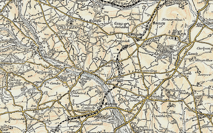 Old map of Helston Water in 1900