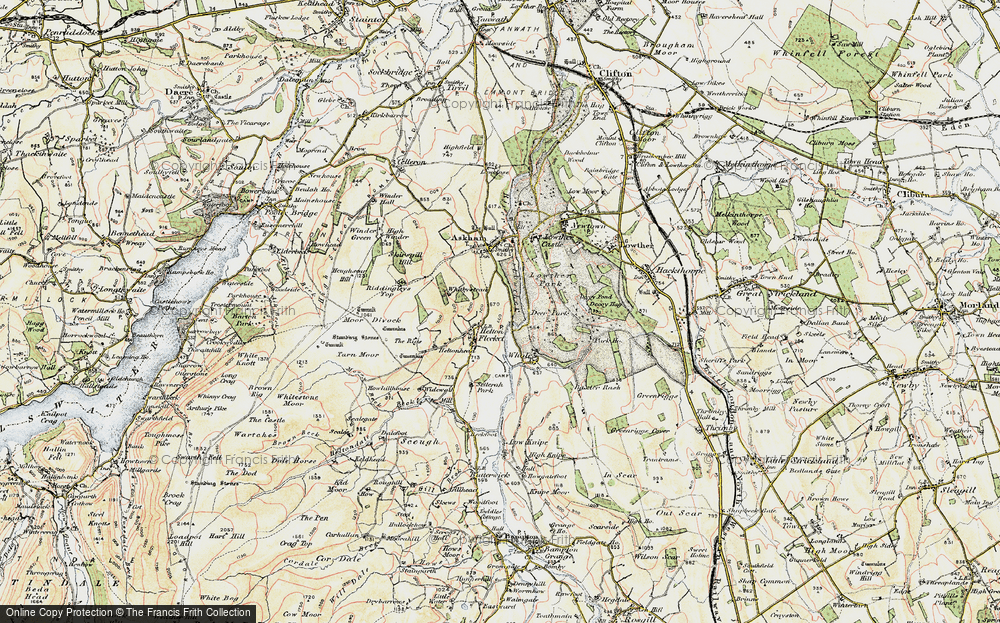 Old Map of Historic Map covering Askham Fell in 1901-1904