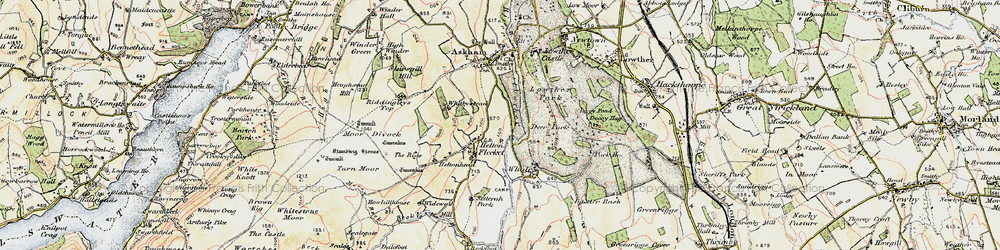Old map of Widewath in 1901-1904