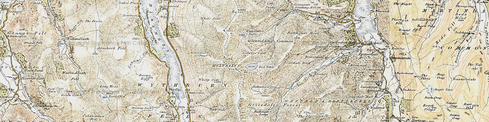 Old map of Whelp Side in 1901-1904