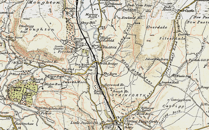 Old map of Bargh Ho in 1903-1904