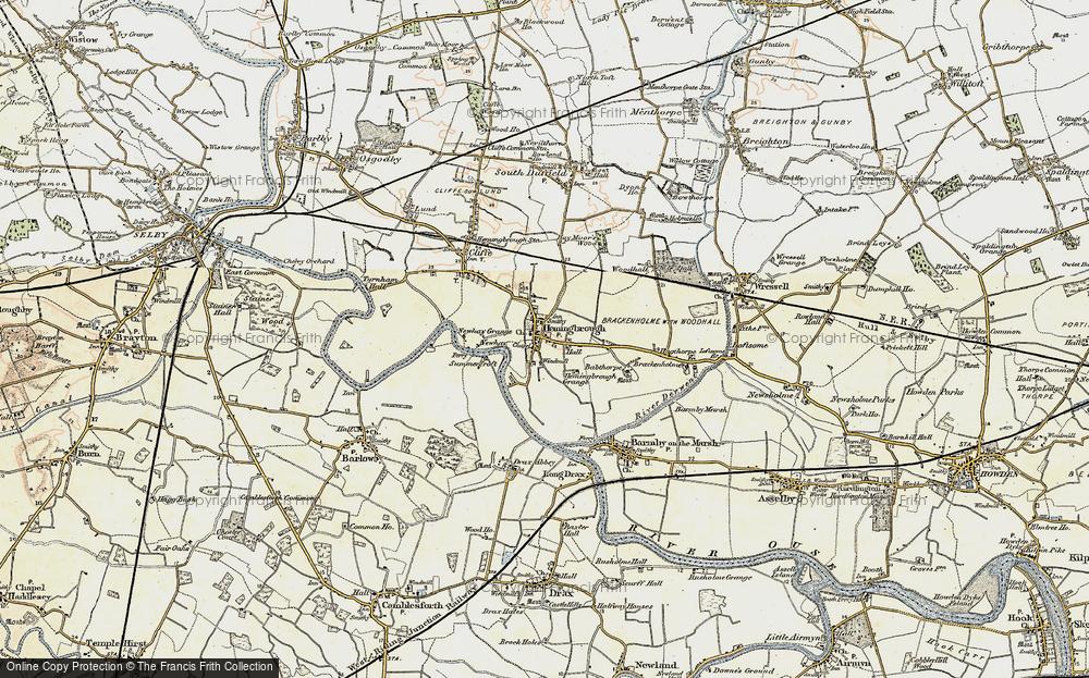 Old Map of Hemingbrough, 1903 in 1903
