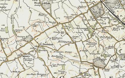 Old map of Hemlington in 1903-1904