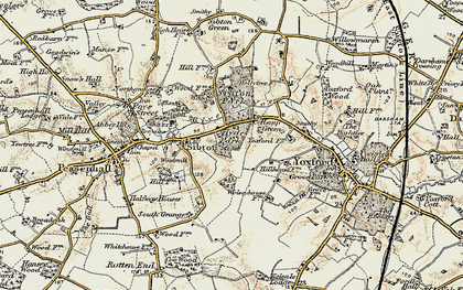 Old map of Yoxford Wood in 1901