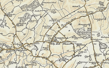 Old map of Wincelow Hall in 1898-1901