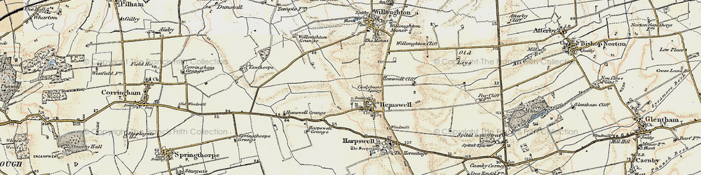 Old map of Hemswell in 1903