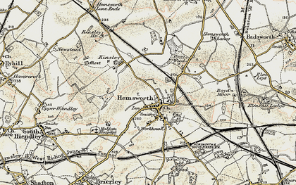Old map of Hemsworth in 1903