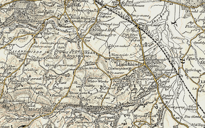 Old map of Ystrad Hall in 1902-1903
