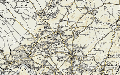 Old map of Henbury in 1899