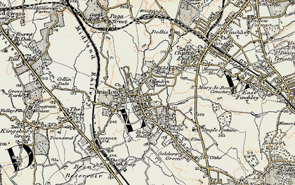 Old map of Hendon in 1897-1898