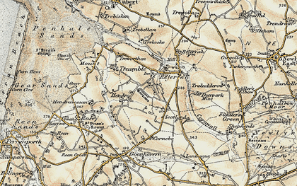 Old map of Hendra Croft in 1900