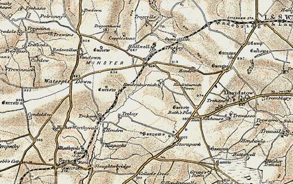 Old map of Hendraburnick in 1900