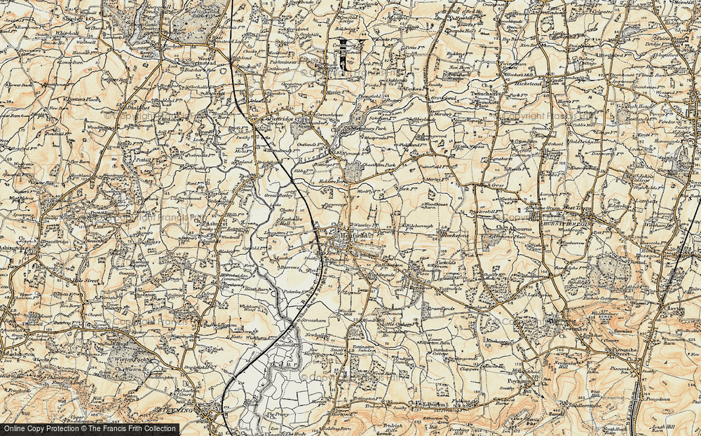 Old Map of Historic Map covering Woodhouse in 1898