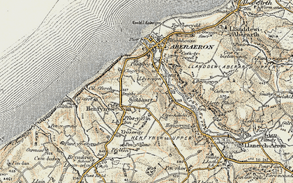 Old map of Wig-wen in 1901-1903