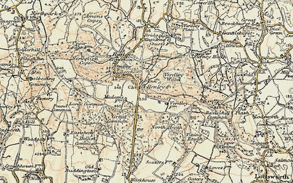 Old map of Henley in 1897-1900