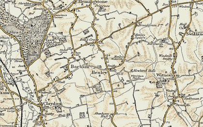 Old map of Witnesham Thicks in 1898-1901