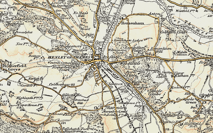 Old map of Henley-on-Thames in 1897-1909
