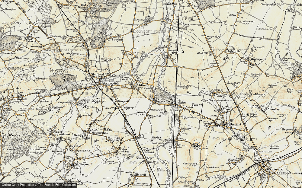Old Map of Henlow, 1898-1901 in 1898-1901