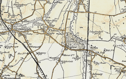 Old map of Henlow in 1898-1901