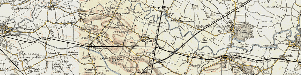 Old map of Hensall in 1903