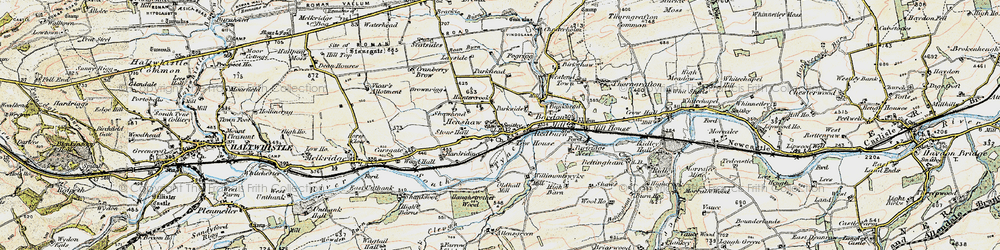 Old map of Allensgreen in 1901-1904