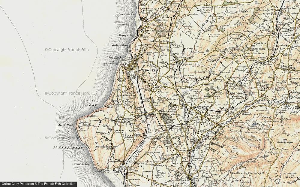 Old Map of Hensingham, 1901-1904 in 1901-1904