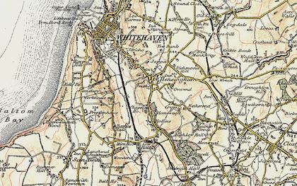 Old map of Hensingham in 1901-1904
