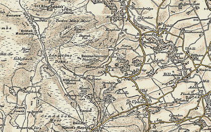 Old map of Henwood in 1900