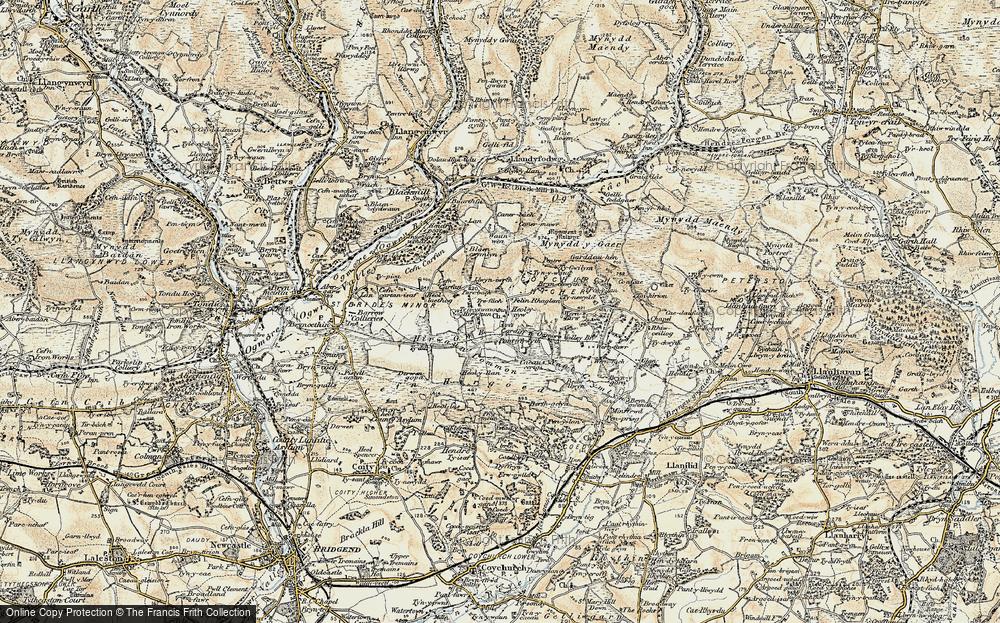 Old Map of Heol-y-Cyw, 1899-1900 in 1899-1900