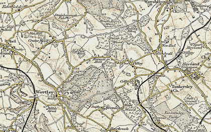 Old map of Lane Royds Park in 1903